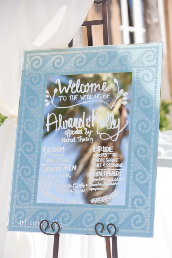 California-desination-beach-wedding-welcome-sign